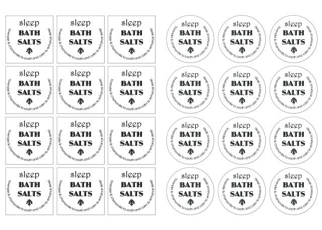 Homemade Bath Salts (With free printable labels!)