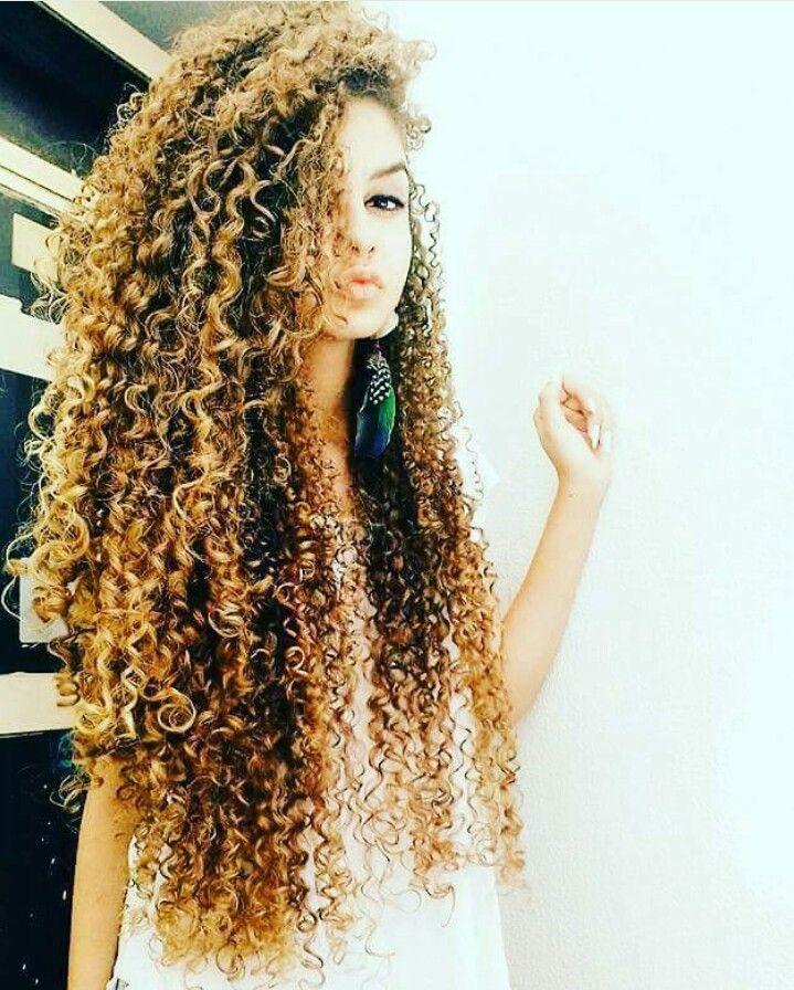 Curly long hair