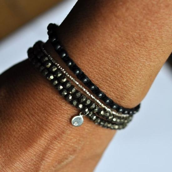 tiny sterling silver essentials bracelet  #handmade #DIY #craft #beading #bracelet #jewelry