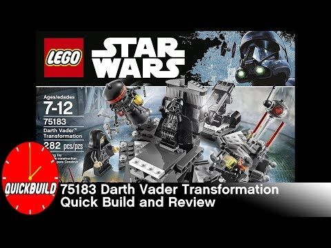Just posted! LEGO Star Wars 75183 Darth Vader Transformation - Review  https://youtube.com/watch?v=FOG24T7eECk