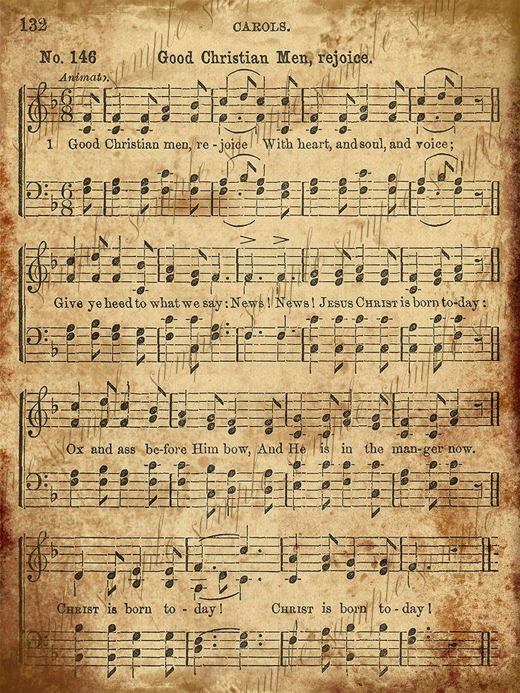 Printable christmas carol piano sheet music 1000 images for beginners