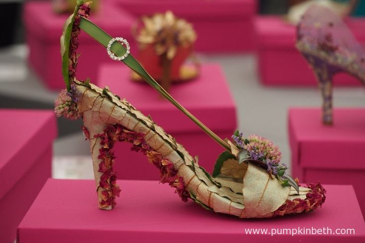 These intricately decorated shoes were much admired in the Surrey NAFAS Floral…