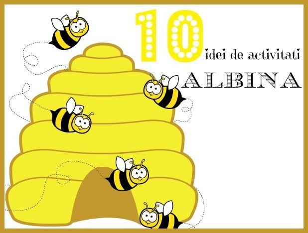 Am strans aici 10 idei interesante de activitati si craft-uri pentru copiiavand ca si personaj principal albina.
