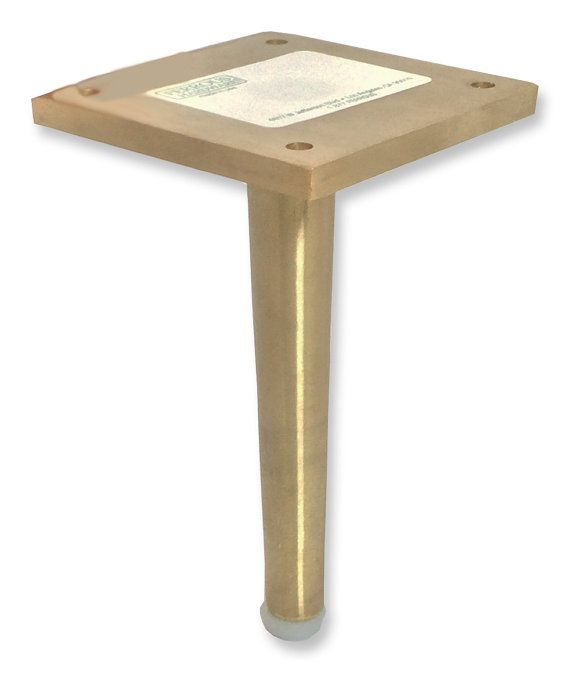 Dunbar  Brass Metal Furniture Leg, Tapered