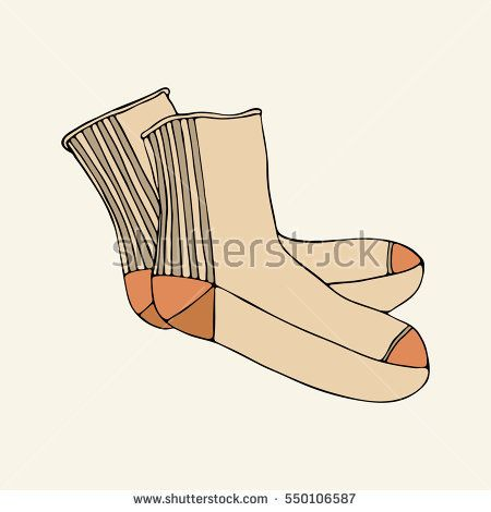 Beige socks #vector #clothes #accessories #fashion