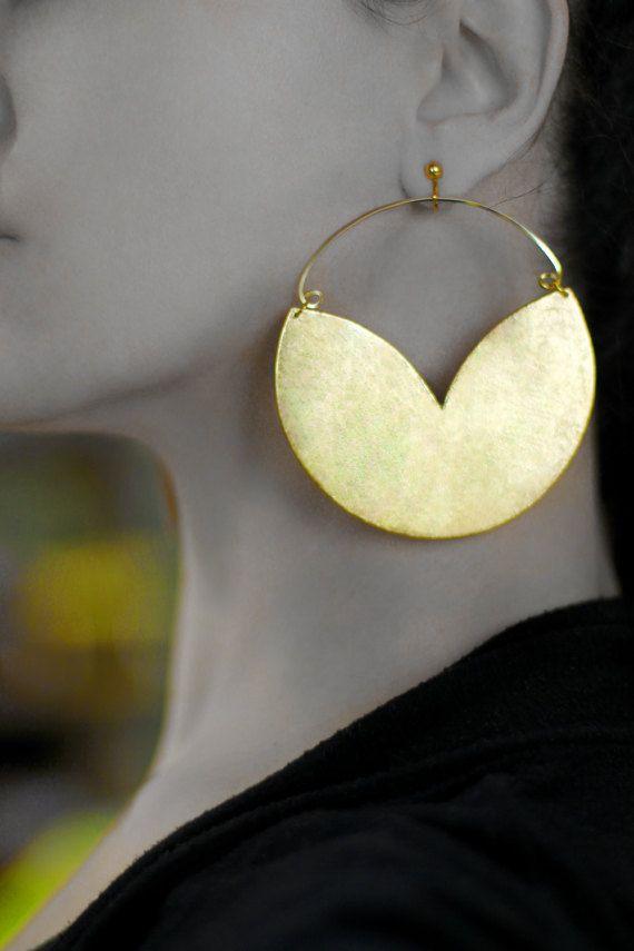 Boho earrings Hoop earrings Non pierced earrings Clip on earrings Boho jewelry Hoop clip on dangles Clip earrings Gold African jewelry Gold