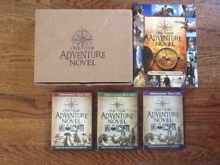 One Year Adventure Novel Set DVDs Compass Textbook Homeschool Writing Program #Textbook