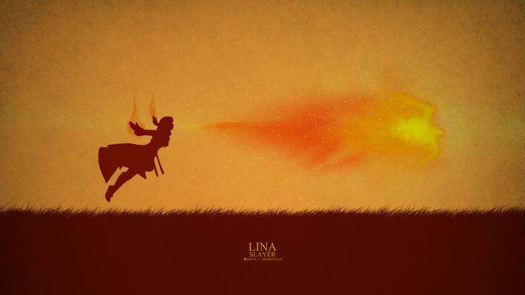 Lina Slayer Minimal Wallpaper, more: http://dota2walls.com/lina/lina-slayer-minimal-wallpaper