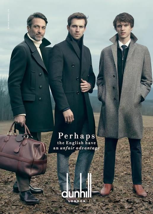 cold winter atmosphere - Dunhill Fall/Winter 2014 campaign