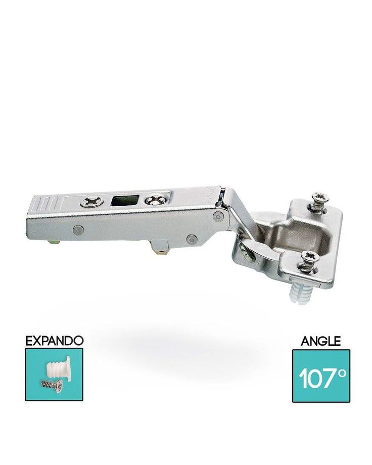 CLIP top standard hinge 107°, dual application  Opening angle: 107°