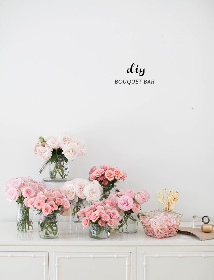 Photography : SMP Living Read More on SMP: http://www.stylemepretty.com/living/2016/01/26/party-idea-diy-bouquet-bar/