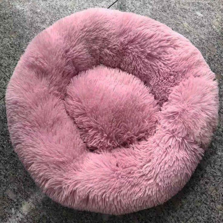 Dog Long Plush Dounts Beds Calming Bed Hondenmand Pet