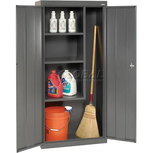 Sandusky Classic Series Janitorial Storage Cabinet VFC1301566 - 30x15x66, Charcoal