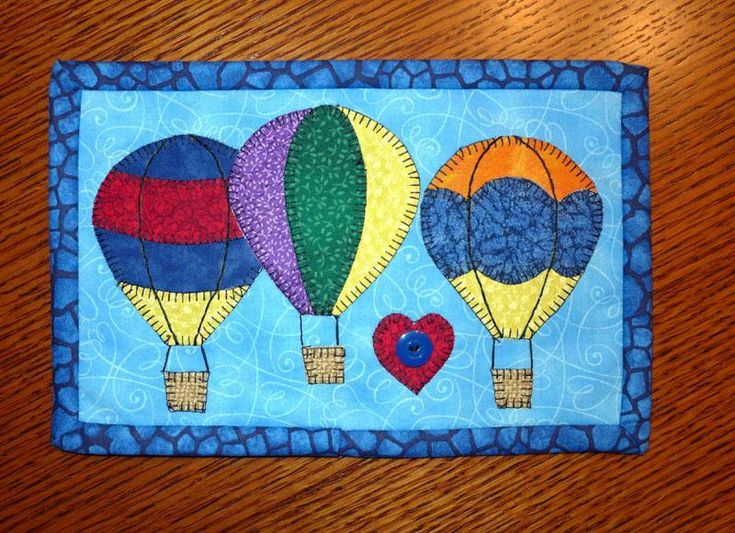 Quilted Mug Rugs Patterns | Hot Air Balloon Mug ... by SHDesigns | Quilting Pattern