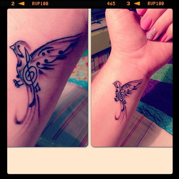 Music bird tattoo... dont like the placement though... maybe on the ankle or smaller on the foot?