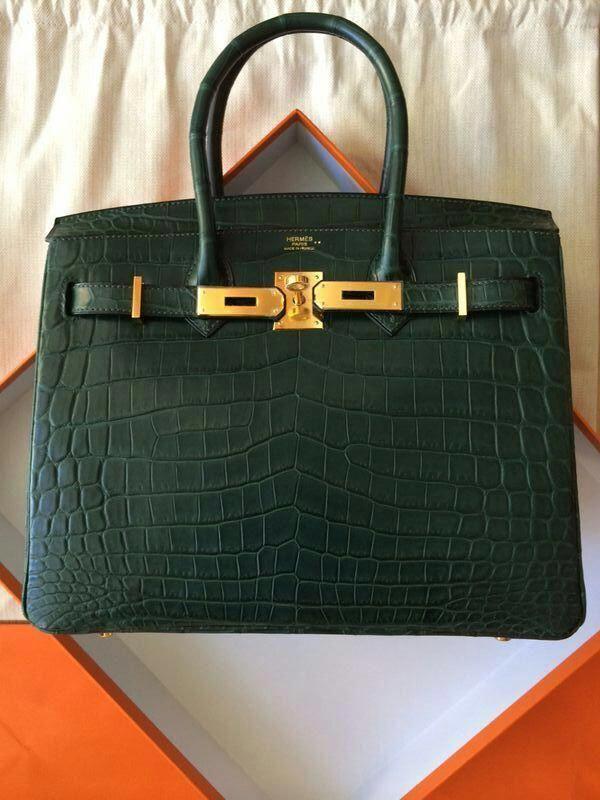 Hermes B30 VERT TITIEN GHW MATTE NILO  Hermeshandbags  Designerhandbags 8332ce149f