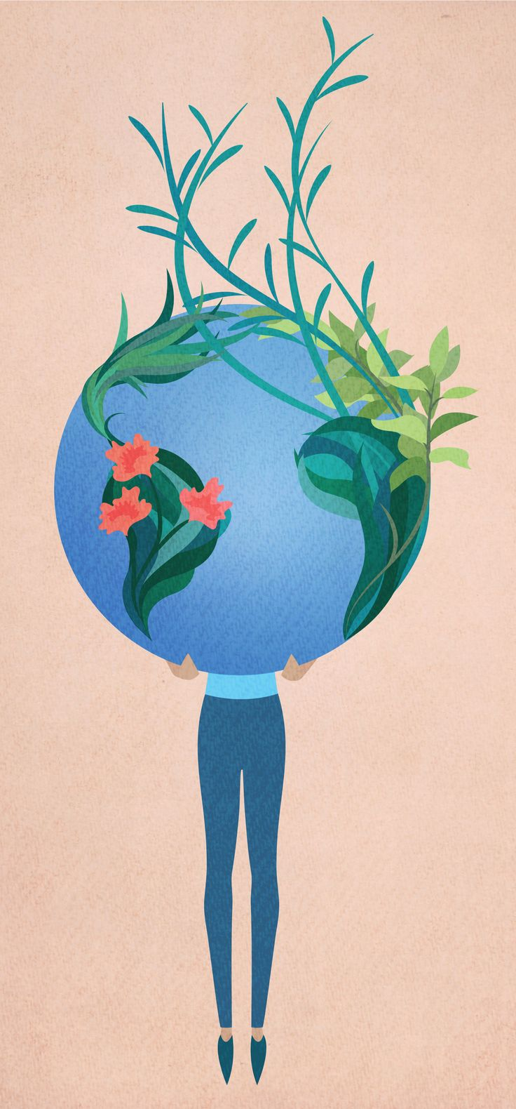 There are so many reasons to keep on loving our amazing planet earth! Illustration by Paula Kuka Common Wild for Earth Day 2017. Thank you for the trees, and the sunshine and the ocean and the bees.