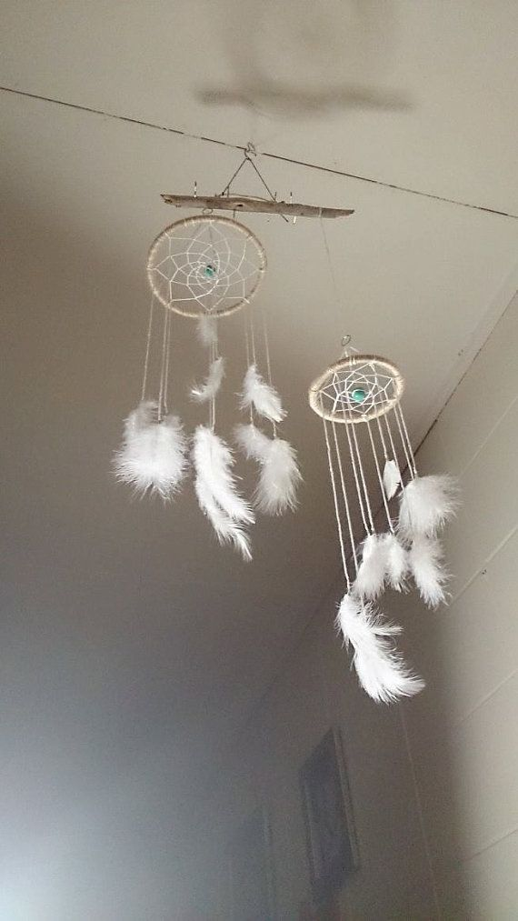 White Dream Catcher Mobile S & L available. on Etsy, $18.24