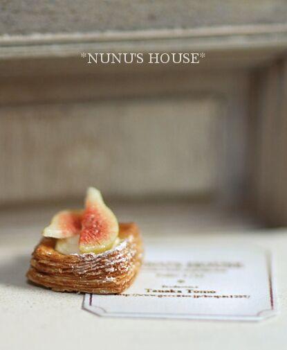*いちじくのデニッシュ* - *Nunu's HouseのミニチュアBlog* 1/12サイズのミニチュアの食べ物、雑貨などの制作blogです。