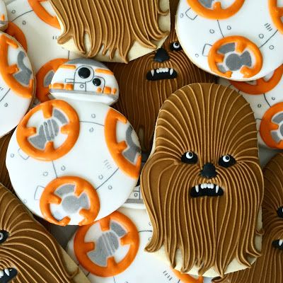 Star Wars cookies, Chewbacca and BB8 from Oh, Sugar! Events
