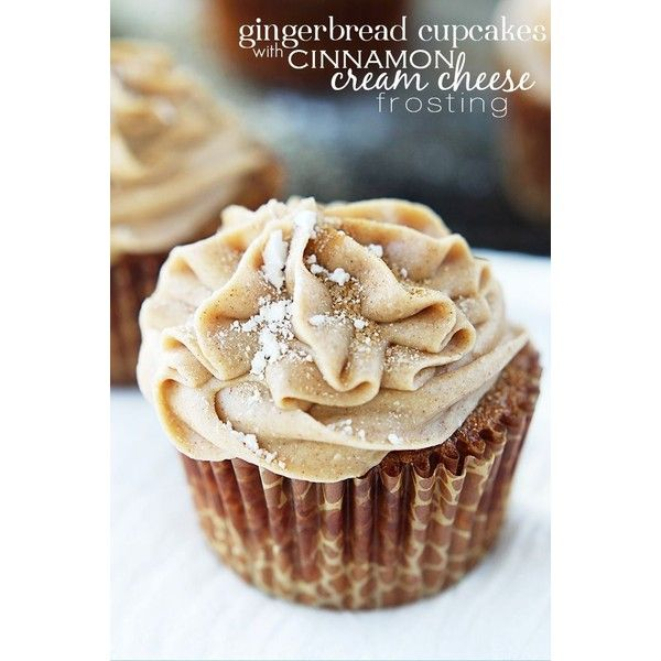 Gingerbread Cupcakes with Cinnamon Cream Cheese Frosting liked on ...