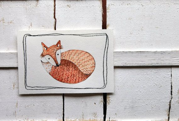 fox illustration original illustration by ariannapiazzafineart, $32.00