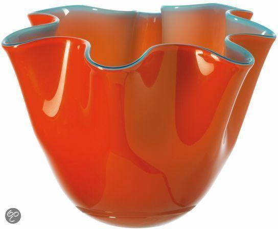 Leonardo Lia - Vaas - Rood/Turquoise - h15 cm - Glas