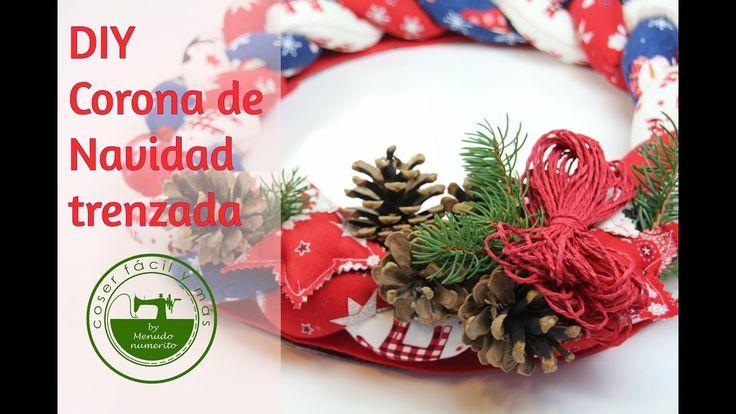 Adornos de navidad DIY: corona trenzada