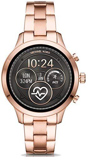 Michael Kors Damen Digital Smart Watch Armbanduhr Mit Edelstahl