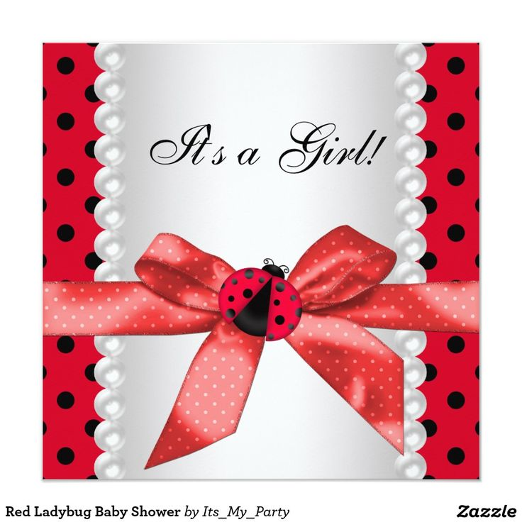 20 best Ladybug Baby Shower Invitations images on Pinterest ...