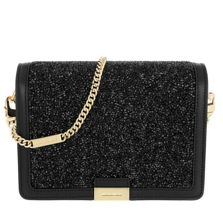 Michael Kors Michael Kors Tasche – Jade MD Gusset Clutch Gold Black – in schwarz – Umhängetasche für Damen