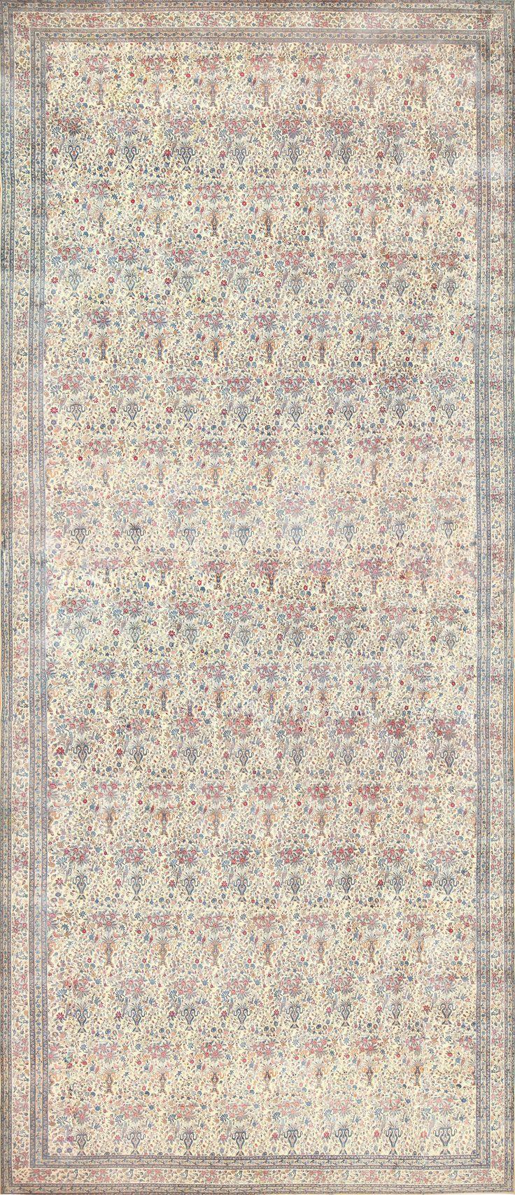 Antique Persian Kerman Rug, Country of Origin / Rug Type: Persian Rugs, Circa Date: 1920 19 ft 7 in x 41 ft (5.97 m x 12.5 m)