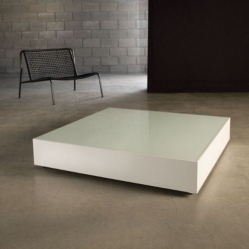 modern low square coffee table