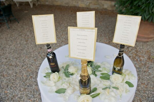Table plans on champagne.