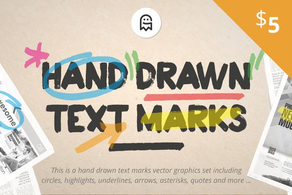 Good morning everyone, the Graphic Ghost just added a new useful product to the @creativemarket shop - Hand Drawn Text Marks! Check it out and give it a +heart if you like it. Have a nice day. #graphicghost #creativemarket #design #graphics #handdrawn #textmarks #highlight
