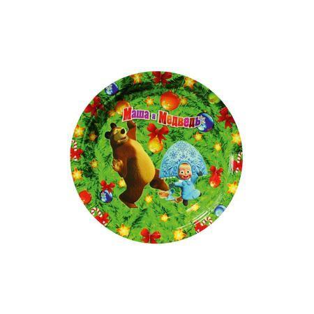"""Росмэн Тарелка бумажная""""НОВЫЙ ГОД!"""",18см,6шт  — 47р. ----------- Одноразовая посуда прочно вошла в современную жизнь, и теперь многие люди просто не представляют без нее детский праздник или пикник: она почти невесома, не может разбиться и не нуждается в мытье. Сделанные из бумаги, тарелки для праздника «Новый Год!» ТМ «Маша и Медведь» являются экологически чистыми, поэтому безопасны для здоровья. Благодаря глянцевому ламинированию они прекрасно справляются со своей задачей: удерживают еду…"""