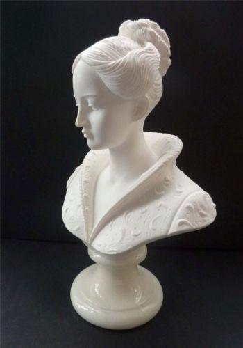 Large Amp Fine Vintage Italian Alabaster Figurine Bust