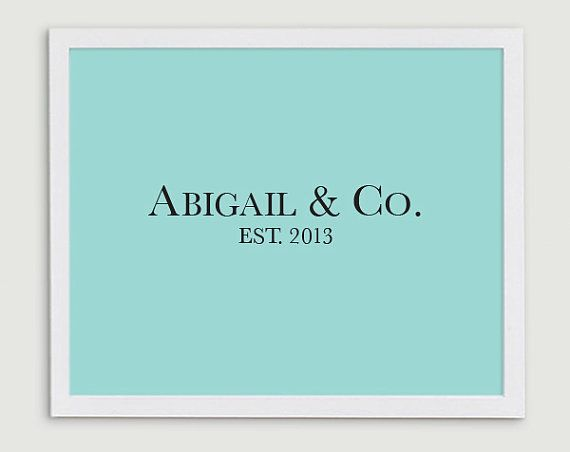 Baby Girl Name Nursery Art   Tiffany and Co  by StephLawsonDesign, $15.00