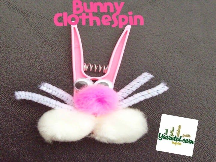 Clothespin Bunny | Easter Crafts | Pinterest