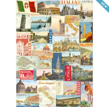 Italy Postcards - wrapping paper from Cavallini & Co. Available at Bobangles.