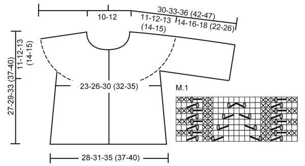 """DROPS Baby 20-12 - Chaqueta DROPS tejida de lado a lado en punto musgo con patrón de calados en """"Baby Merino"""".  - Free pattern by DROPS Design"""