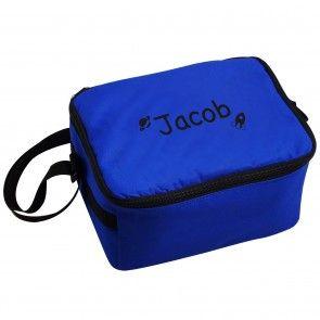 Personalised Black Rocket Lunch Bag