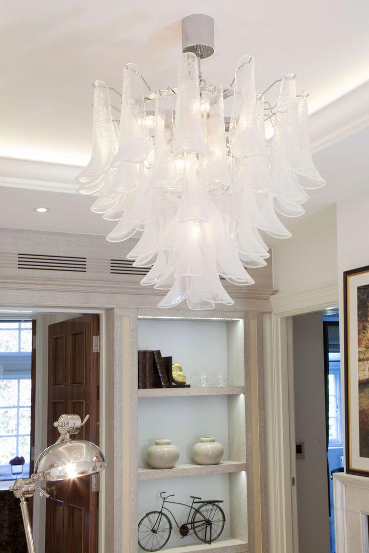 Luxury Murano Chandelier in Study Room   JHR Interiors
