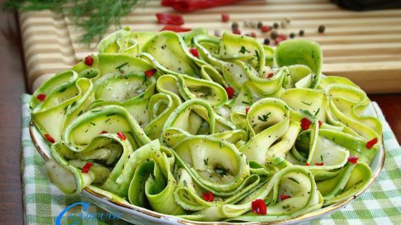 Маринованные кабачки, пошаговый рецепт с фото