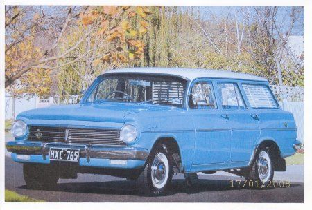 EH Holden Car Club of VIC, 1963 Aqua-Turquoise EH Station Wagon.