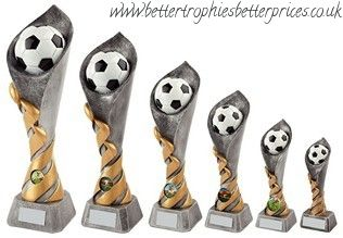 Football Ball Column #Trophy 3D Model of a football emerging from an olympic torch