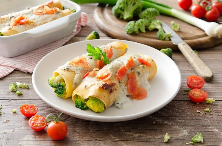 Cannelloni di broccoli e salsa al gorgonzola