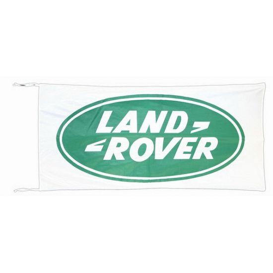 Logo vlag Land Rover 150 x 75 cm  Land Rover vlag 150 x 75 cm. Witte Land Rover vlag met twee koordjes. De vlag is gemaakt van Du Pont nylon en is bestand tegen UV-straling. Afmeting: ongeveer 150 x 75 cm. Materiaal: 100% Du Pont nylon.  EUR 19.95  Meer informatie
