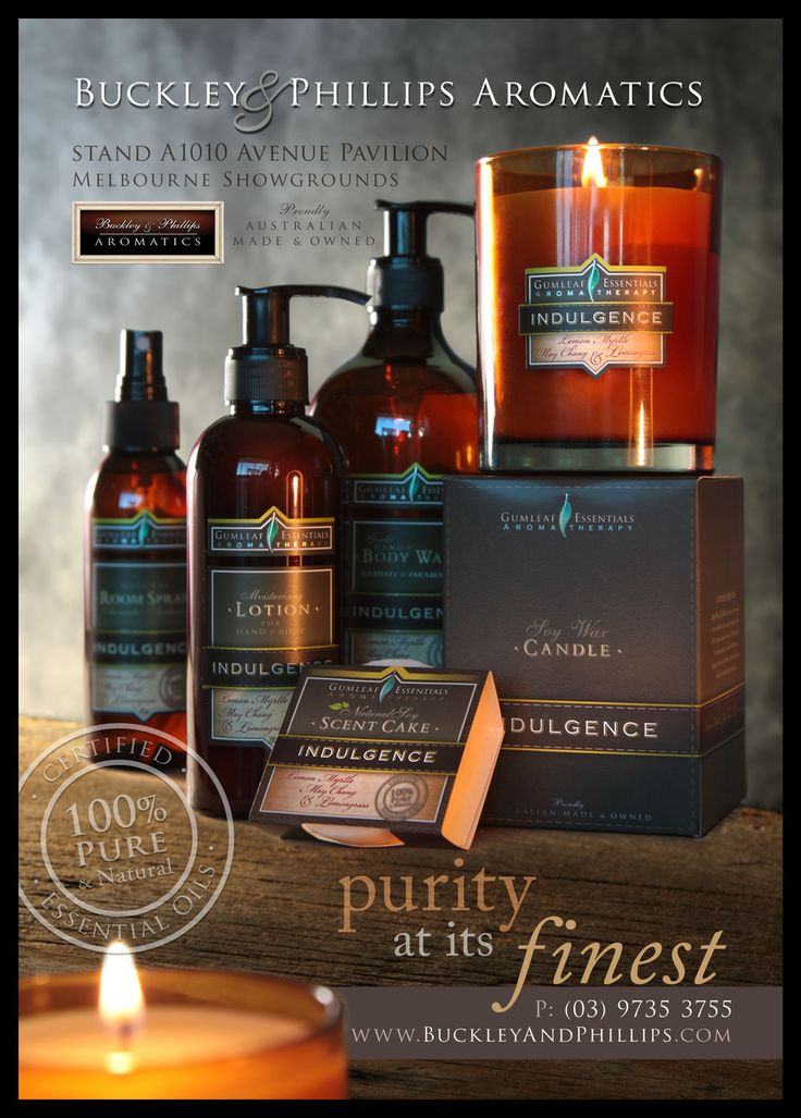 Aromatherapy products - Full page cover ad in the Home & Giving Fair magazine. Melb Aug 2013