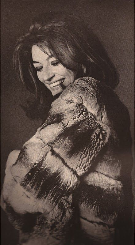 Anouk Aimee by Bert Stern 1965 Love the hair and makeup ; not so keen on the giant fur coat :/